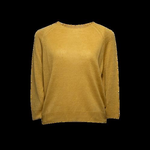 Leinen Pullover mit 3/4 Ärmel