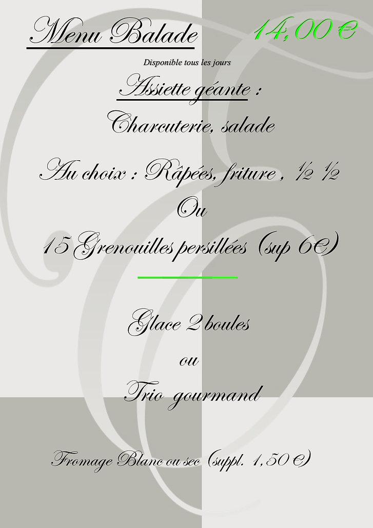 menu balade  grenouilles septembre 2019