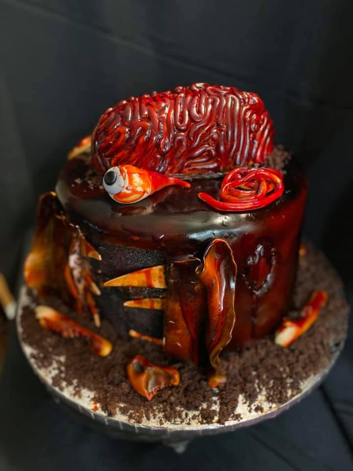 Zombie Brain Cake 2