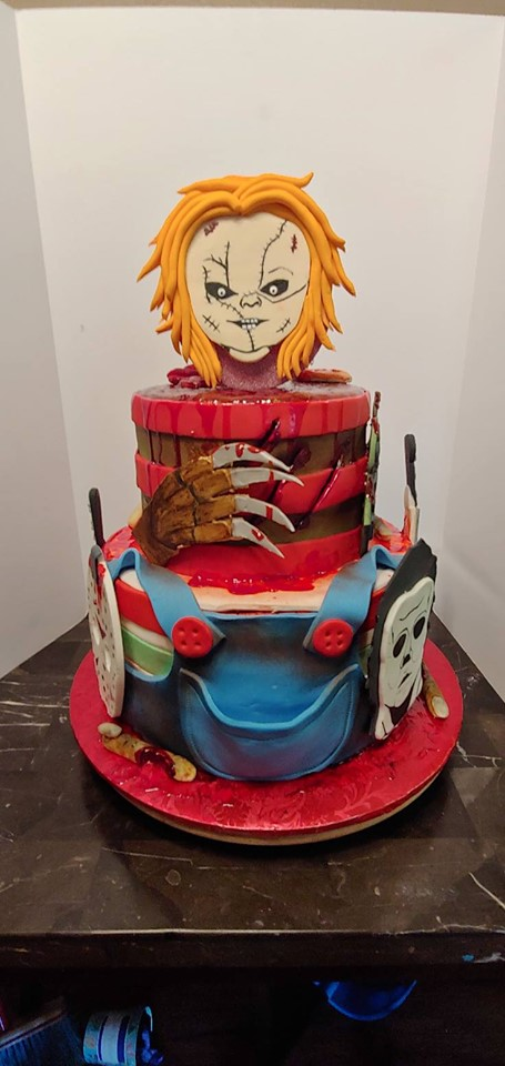 Halloween Monsters Cake