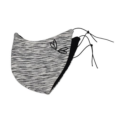 Jane Uncut - Maske Weiss-Grau
