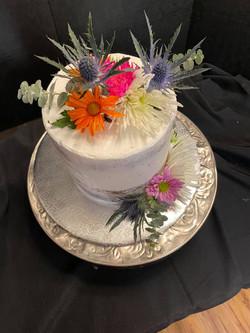 Lavendar Naked Cake