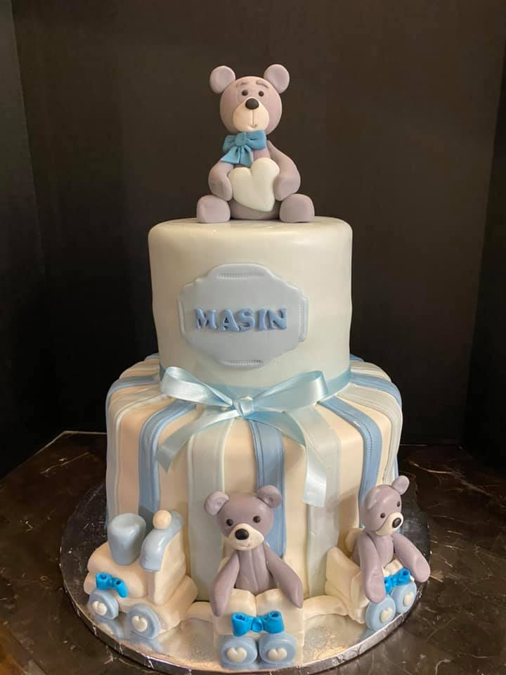 Teddy Bear Babyshower Cake