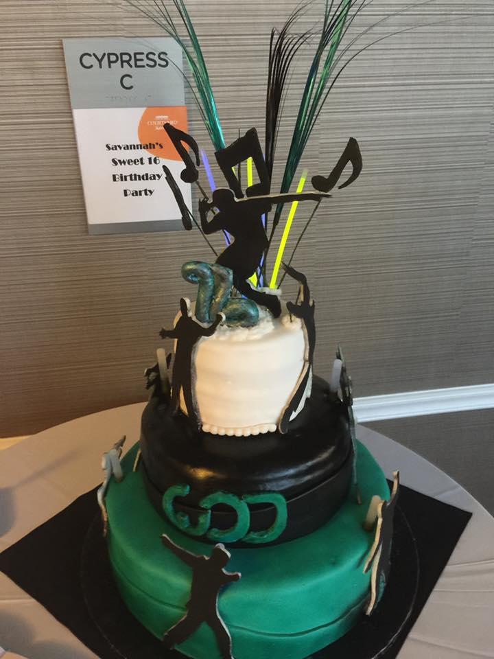 Dance Theme Cake
