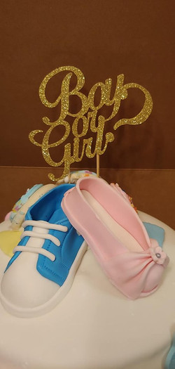 Boy or Girl Shoes Cake Topper