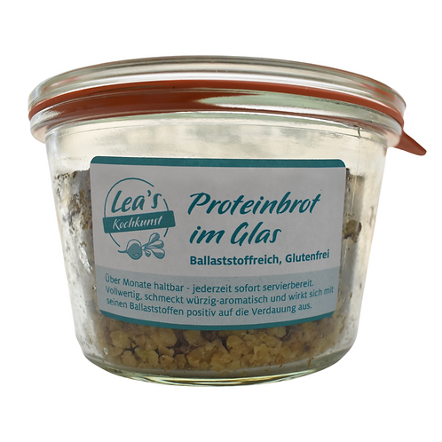 Lea's Kochkunst - Proteinbrot im Glas