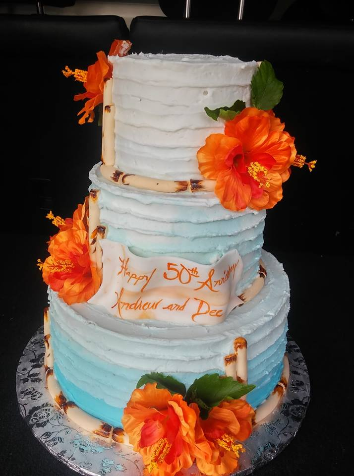 Hawaii Theme Cake