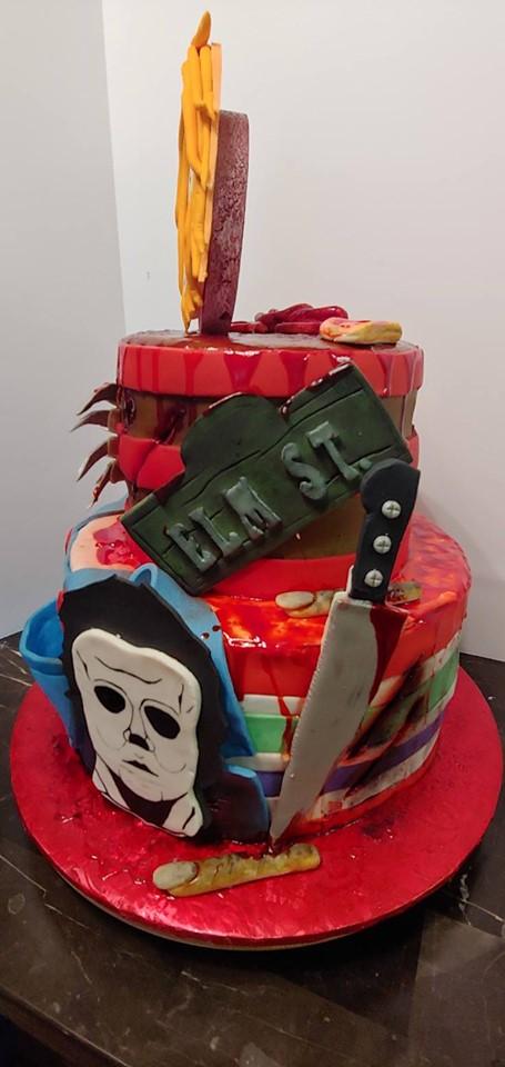 Halloween Monsters Cake 2