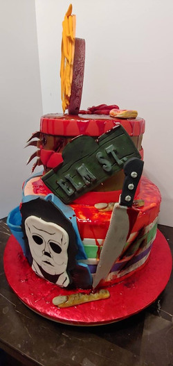 Halloween Monsters Cake 2