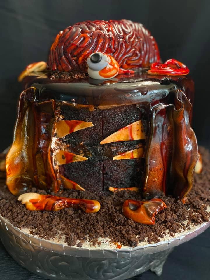 Zombie Brain Cake