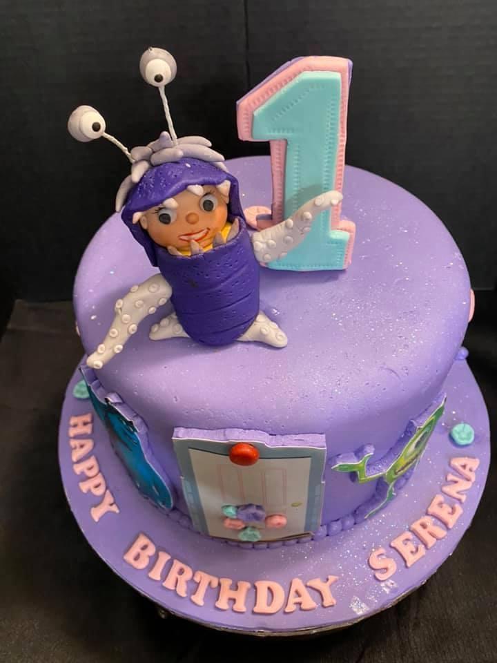 Monster Inc Boo Cake