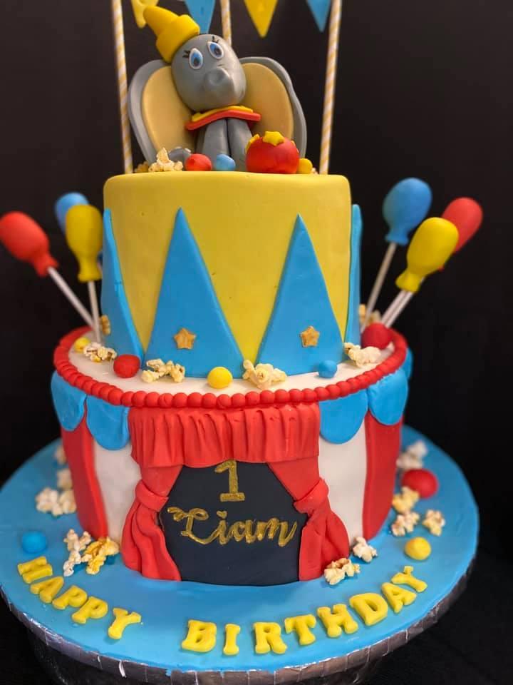 Circus Dumbo Cake