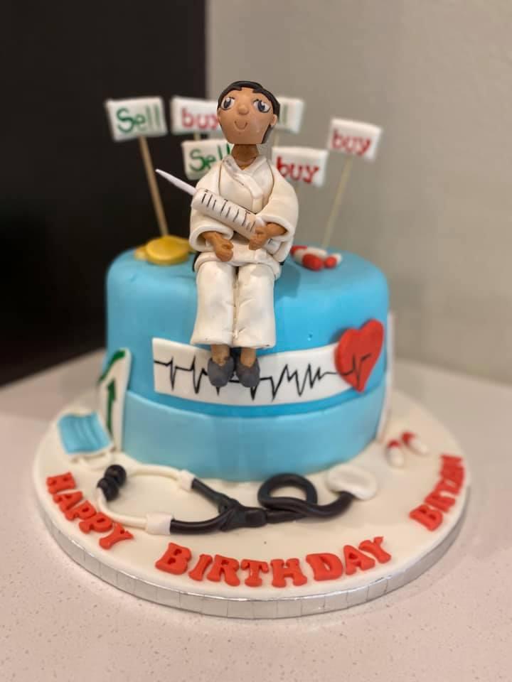 Karate Nurse Theme Cake 1