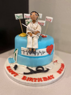 Karate Nurse Theme Cake 1