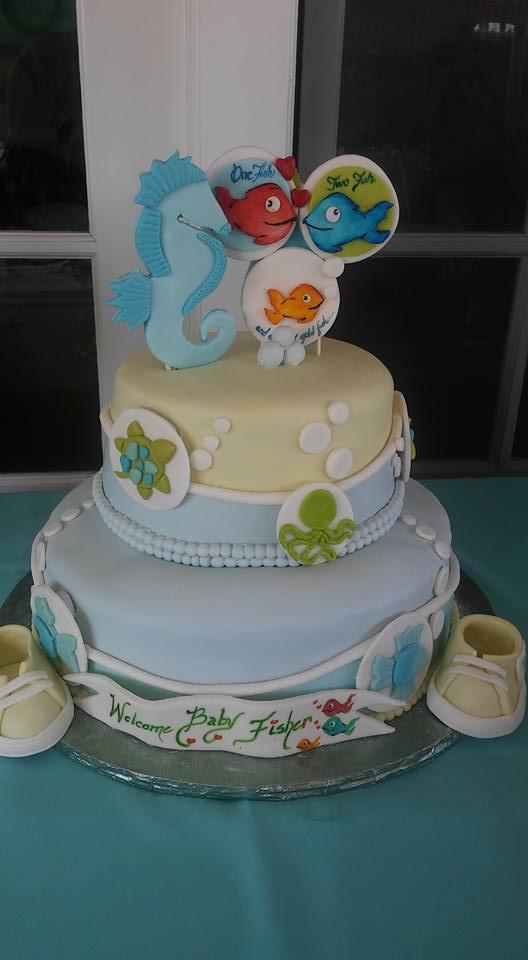 Fish Babyshower Cake