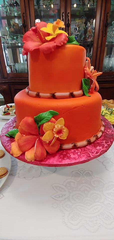 Hawaiian Theme Cake2