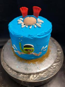 Bottoms Up Swimmer Cake