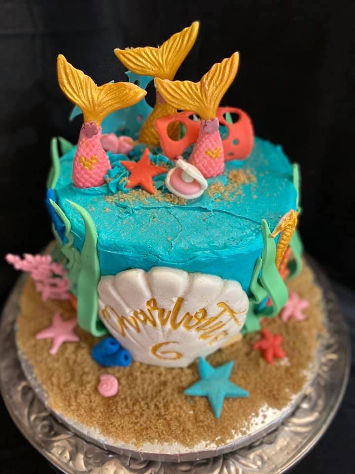 Mermaid Theme Cake 2