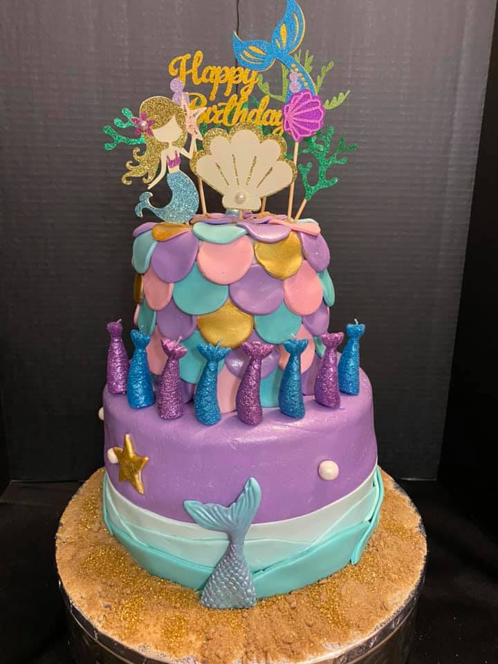 Mermaid Theme Cake 4