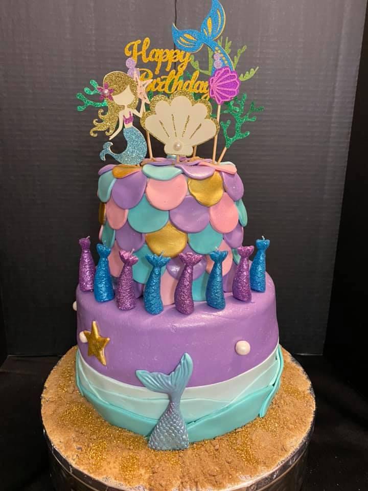 Mermaid Theme Cake 4