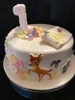 Bambi Theme Cake