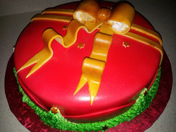 Christmas Cake with Bow
