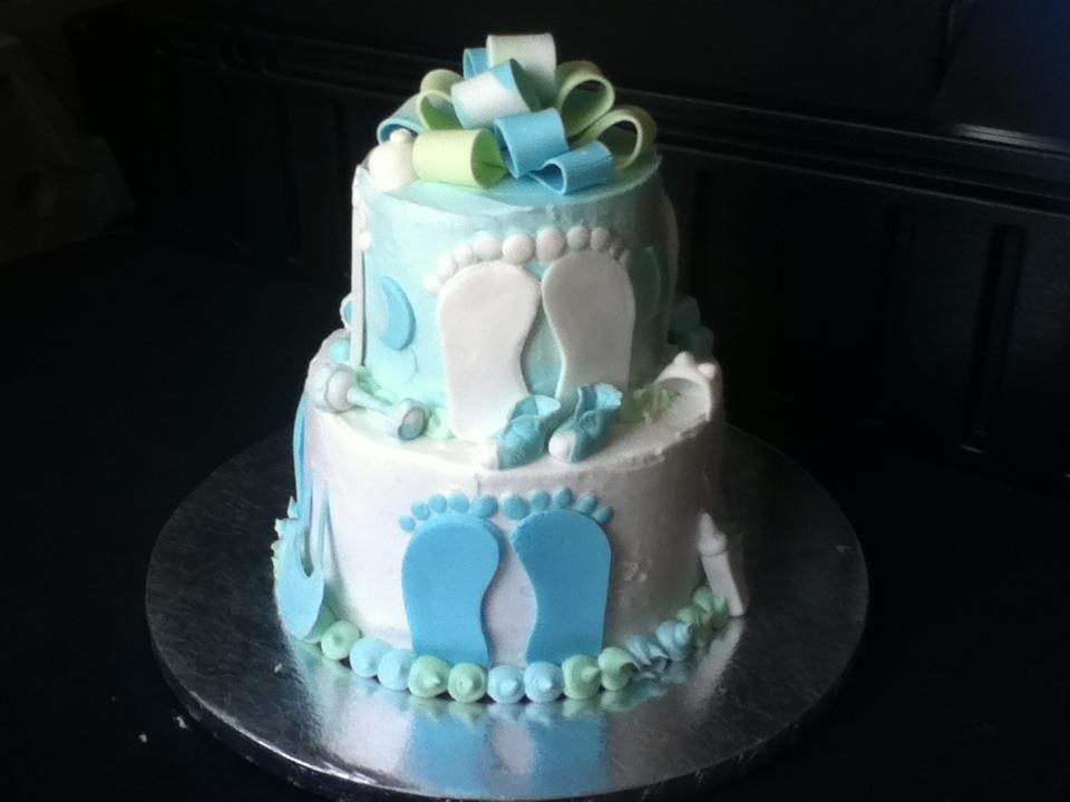 Babyshower With Feet Cake