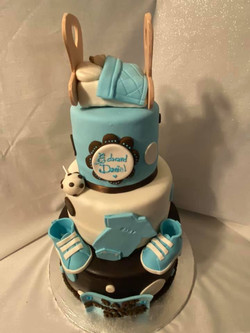 Babyshower cake with baby on top