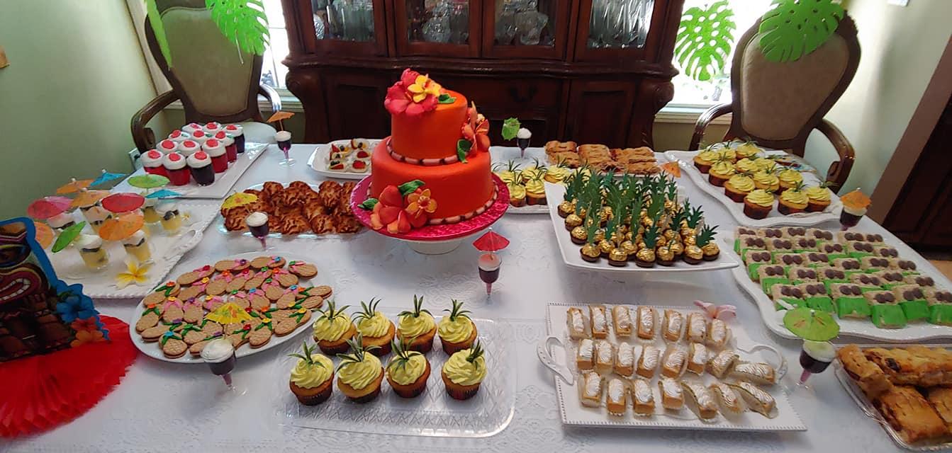 Hawaiian Theme Dessert table