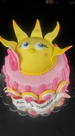 Smiling Sun Cake