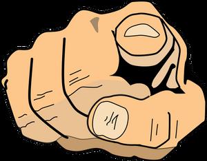finger pointing at reader