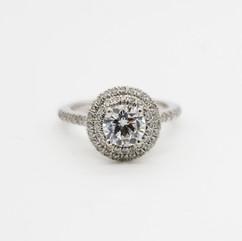 Vintage Moissanite Ring, 14 or 18kt White Gold