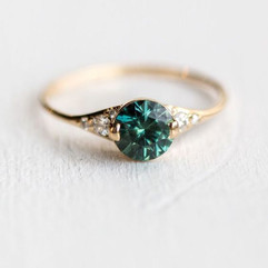 Mixed Sapphire Engagement Rings