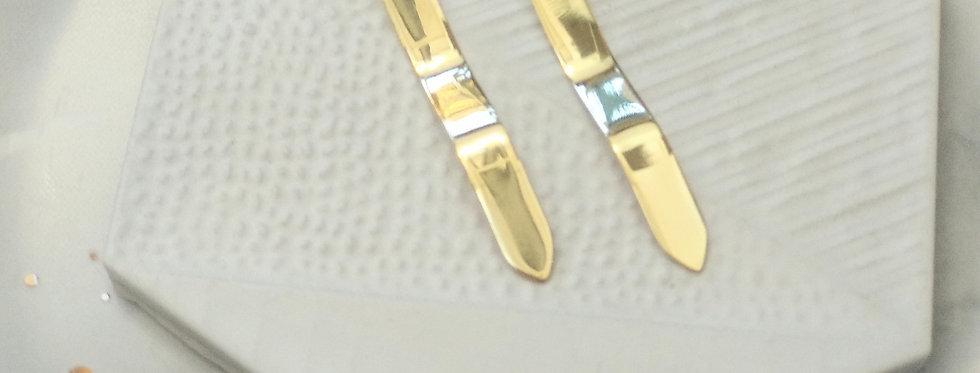 Wave Brass Earrings