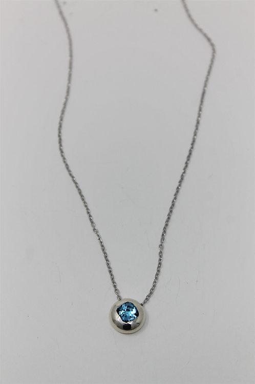 Blue Topaz pendant on chain