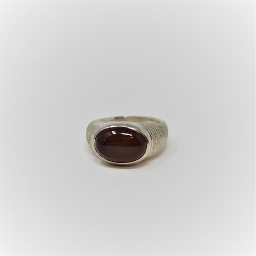 Textured Gypsy Ring-Carnelian