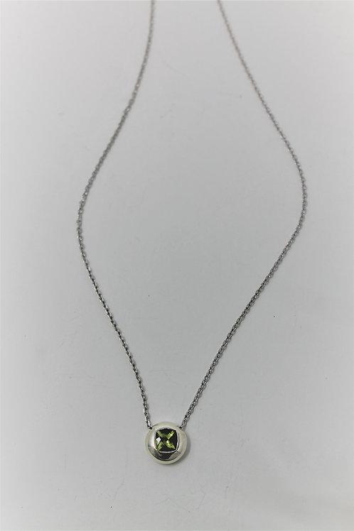 Green Peridot pendant on chain