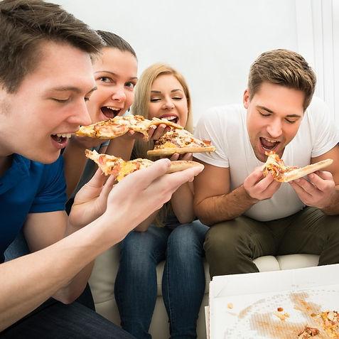 Pizza com os amigos