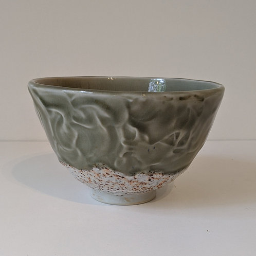 Porcelain Bowl w/thick slip