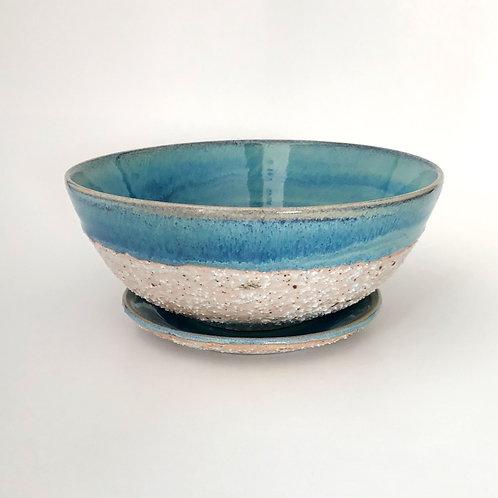 Porcelain Berry bowl w/ saucer