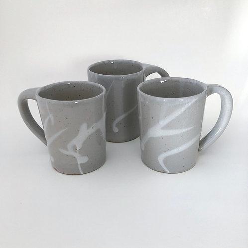 Stoneware mug with white slip