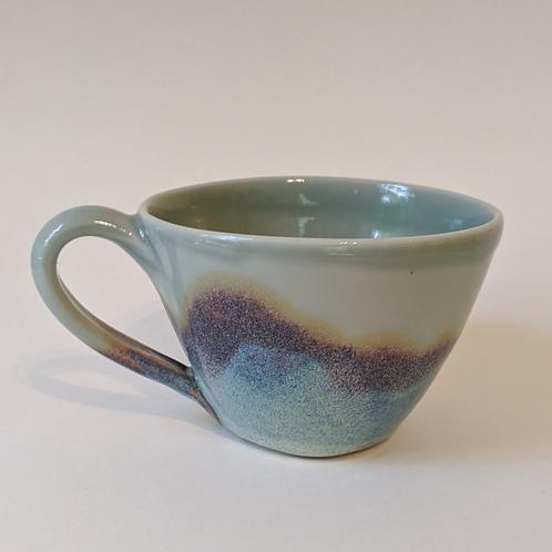 Porcelain Mug w/layered glazes