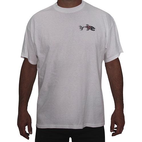 White Short Sleeve Extreme Fishing T-Shirt
