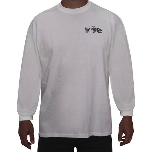 White Long Sleeve Extreme Fishing T-Shirt