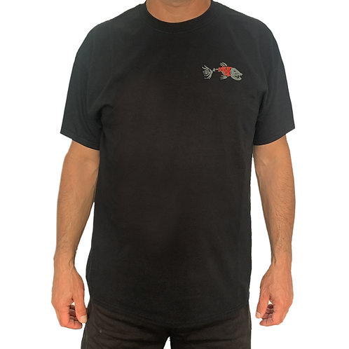 Black Short Sleeve Extreme Fishing T-Shirt