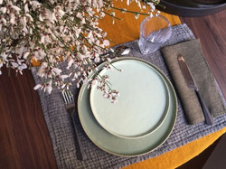 Plate mats and table napkins
