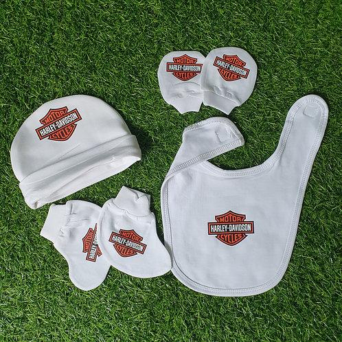 Harley Davidson Newborn Accessories (white)