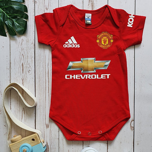 Manchester United Home 20/21 Baby Romper
