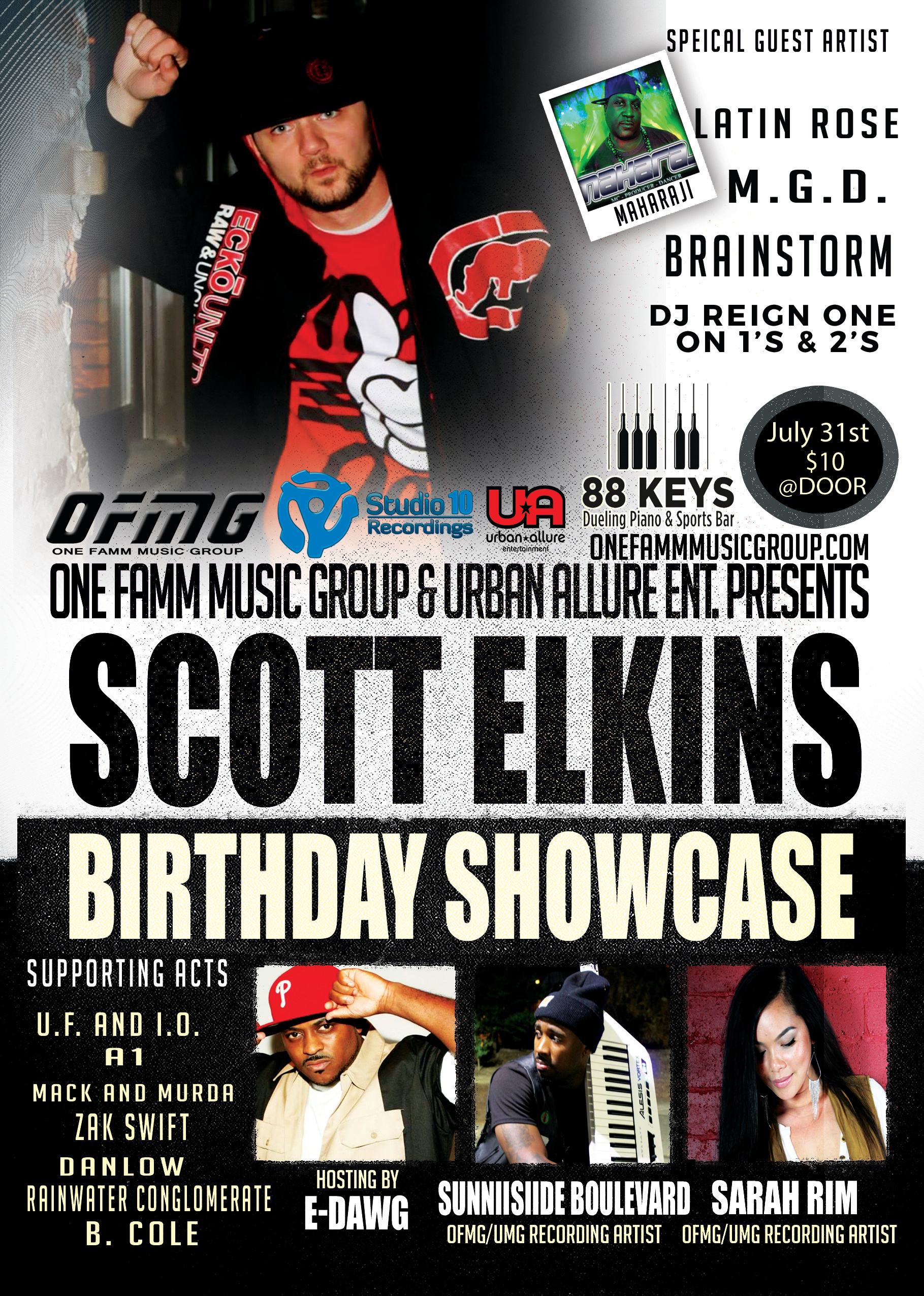 SCOTTELKINS BIRTHDAY SHOWCASE July 31st 88 keys