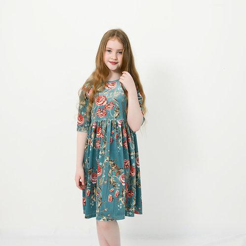 שמלת אסנת טורקיז